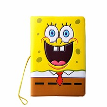 Cartoon 3D Stereo Spongebob Pssport Holder PVC Passport Cover Passport Identify Card Documents Abroad Travel Case(China (Mainland))