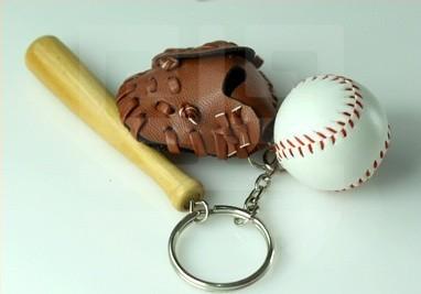 10pcs/lot Baseball Keychain Sport Keyring World Cup Gifts(China (Mainland))