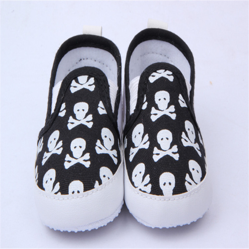 Spring&Autumn First Walkers Baby Shoes Cool Skull Antiskid Baby Walker Toddlers Shoe 0-12 Months(China (Mainland))