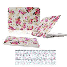 """Rural Floral Design Laptop Rubberized Hard Case + Keyboard Cover For Macbook Air 11"""" 13"""" Pro 13"""" 15"""" Pro Pro Retina 13"""" 15"""" inch(China (Mainland))"""