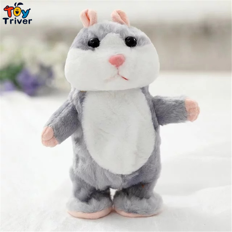 Creative plush hamster toys talking and wiggly learn to speak recording doll birthday gift for baby children kids friend Triver(China (Mainland))