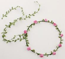 FGGS NEW arrival Bohemian Style Wreath Flower Crown Wedding Garland Forehead Hair Head Band Accessories