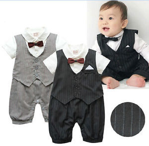 Baby Boy Clothes Special Christmas Christening Formal Tuxedo Boys Romper Suit(China (Mainland))