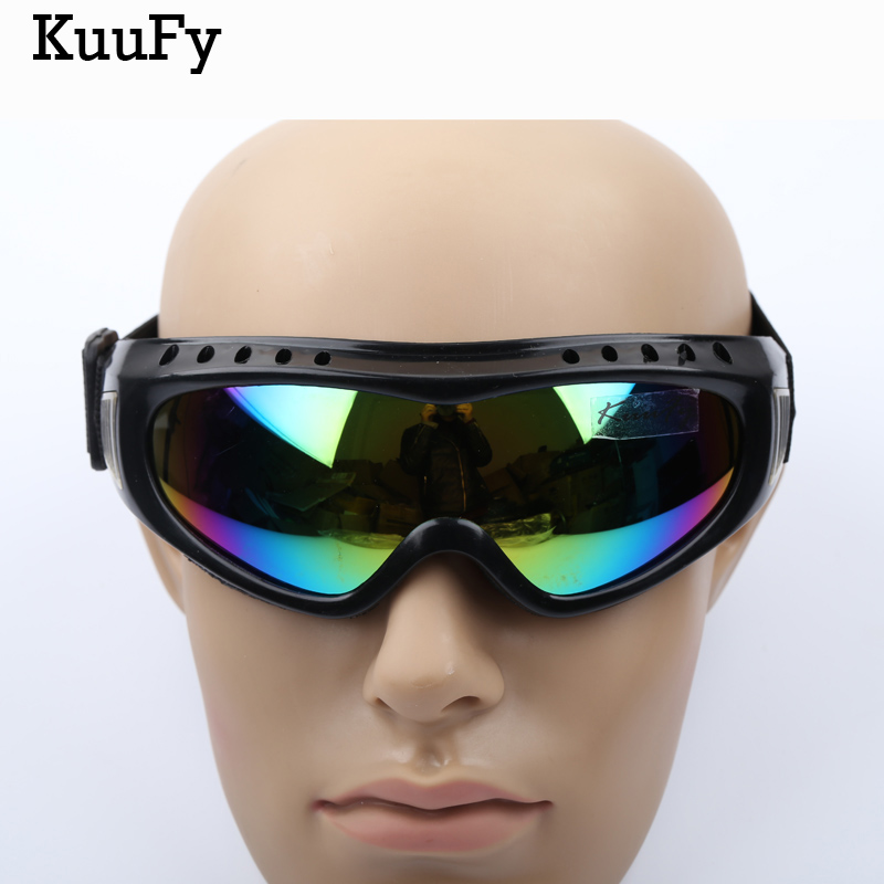 KuuFy Outdoor UV400 Windproof Glasses Ski Glasses Dustproof Snow Glasses Men Motocross Riot Control Skiing Goggles