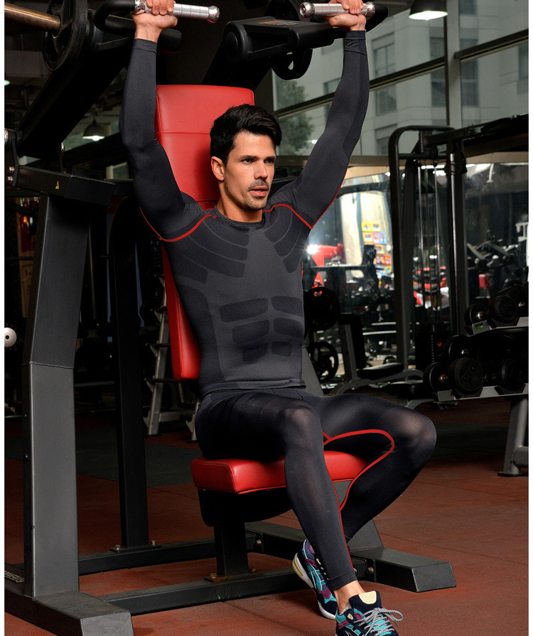 55 Best Man Gym Wears Images On Pinterest: Wholesale-2015 Mens Quick Dry Long Sleeve Compression