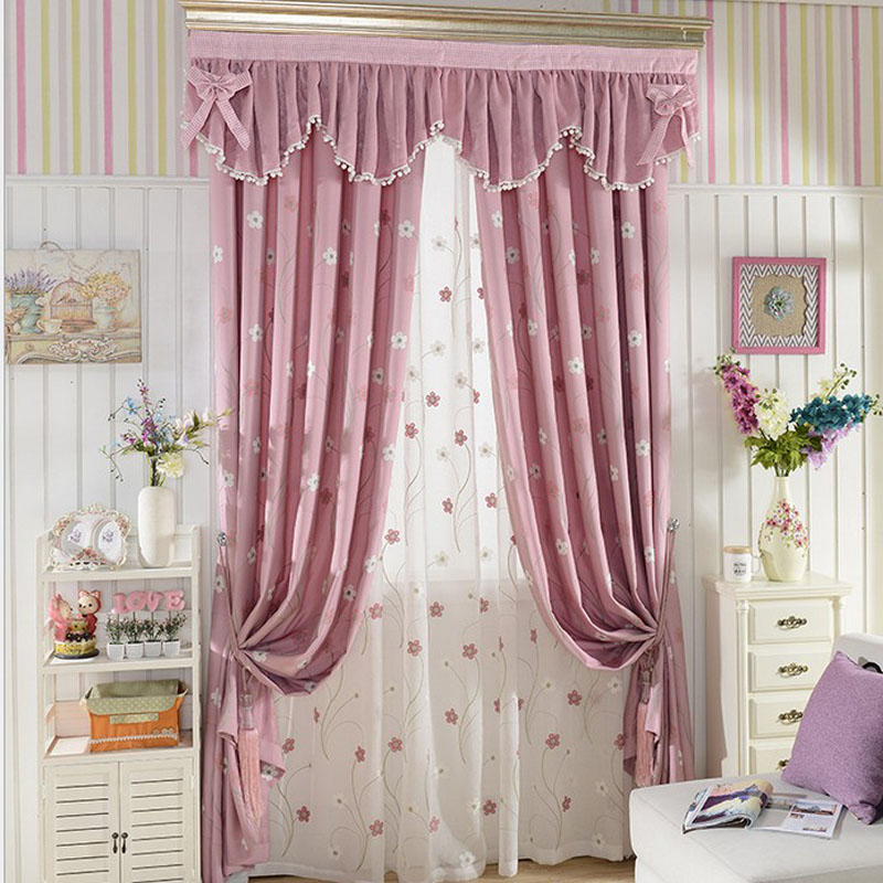 Acquista all 39 ingrosso online valance rosa da grossisti - Tende con mantovana per camera da letto ...