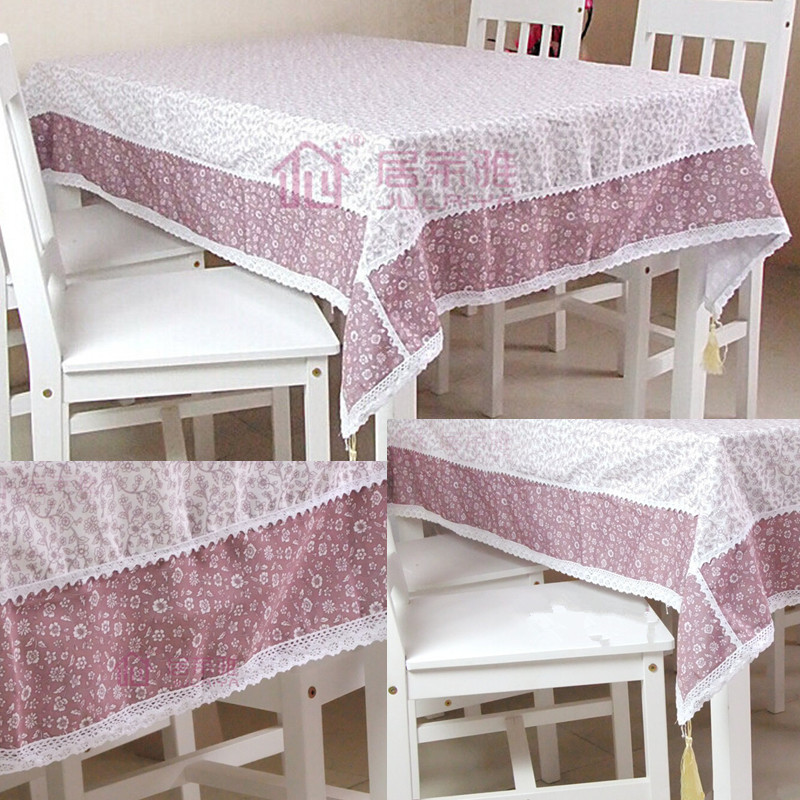 Tablecloth Lace Table Cloth Knitted Vintage Dining Table Cover Knitting Hollow Out 5 Sizes Banquet Kitchen Wedding(China (Mainland))