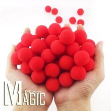 10pcs/lot high quality Diameter 1inch New Fashion Close-Up Magic Sponge Ball Brand Street Classical Comedy Trick Soft Red(China (Mainland))