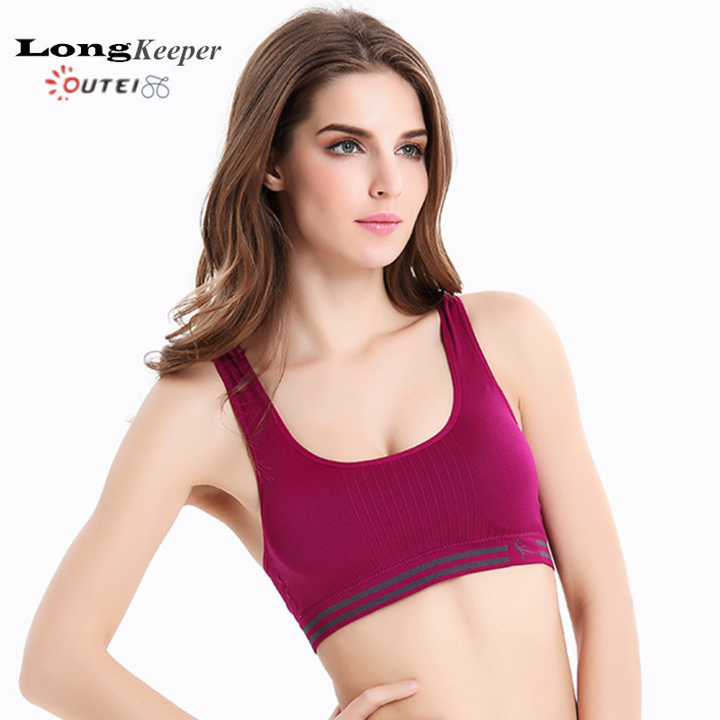 LongKeeper Sports Bra for Women Yoga Crop Top Bras Shockproof Push-up Fitness Vest Work Out Running Seamless Tank Top 1238(China (Mainland))