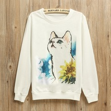 Winter style women's loose printed large size Hoodies female lovely character novelty pullovers sportswear sweatshrits NWY0028(China (Mainland))