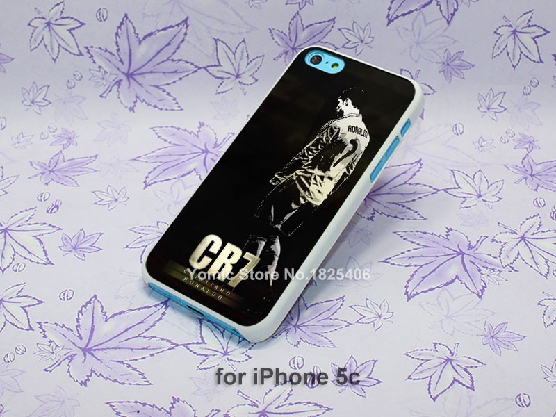 cr7 cristiano ronaldo Pattern hard White Skin Case Cover for iPhone 4 4s 4g 5 5s 5c 6 6s 6 Plus