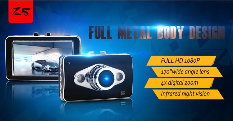 New Car DVR Novatek 96650 Car Video Recorder FHD 1080P 30FPS 2.7inch LCD with G-sensor H.264 Motion Detection Dash Cam Z5