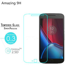 "0.26mm 9H Tempered Glass Protective Flim for Motorola Moto G4 & Moto G4 Plus (5.5""inch) Premium Hardness Screen Protector(China (Mainland))"