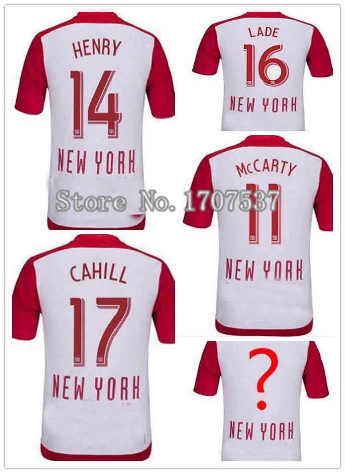 2015 Red New York Soccer Jersey Bulls 15 16 Home WRIGHT PHILLIPS KLJESTAN thailand quality Football Shirt(China (Mainland))