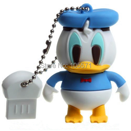 Cartoon donald duck usb flash drive memory stick 4gb 8gb 16gb 32gb thumb drive pen drives gift(China (Mainland))