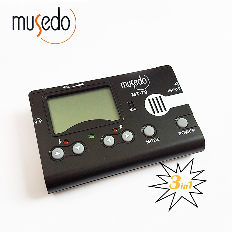 Musedo MT-70 Guitar Tuner/Violin Tuner/Metronome/Tone Generator Bass Guitar tuner with metronome( 3 in 1)(China (Mainland))