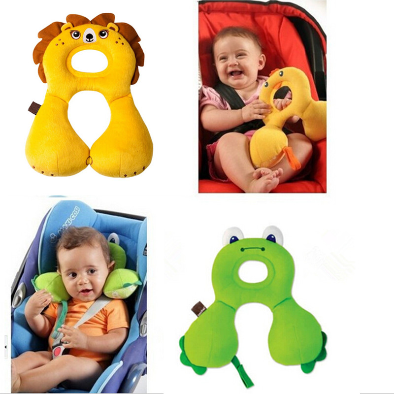 1-4 Years Kid Safe Travel Support Neck Head Pillow U-Shape for Baby Carriage Stroller Car Seat Cushion(China (Mainland))