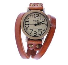 Bracelet Retro Vintage Watch Female  Wrist Watch Leather Winding Ladies Women's   Watch Women Dress Quartz Watches(China (Mainland))