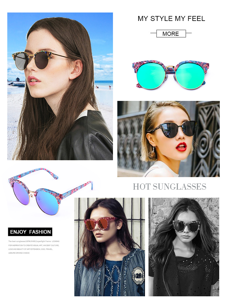 Outdoors Vintage Sun Glasses Female Oculos Sunglasses Women Brand Designer carfia Oculos de Sol Feminino Sunglasses Ladies Round