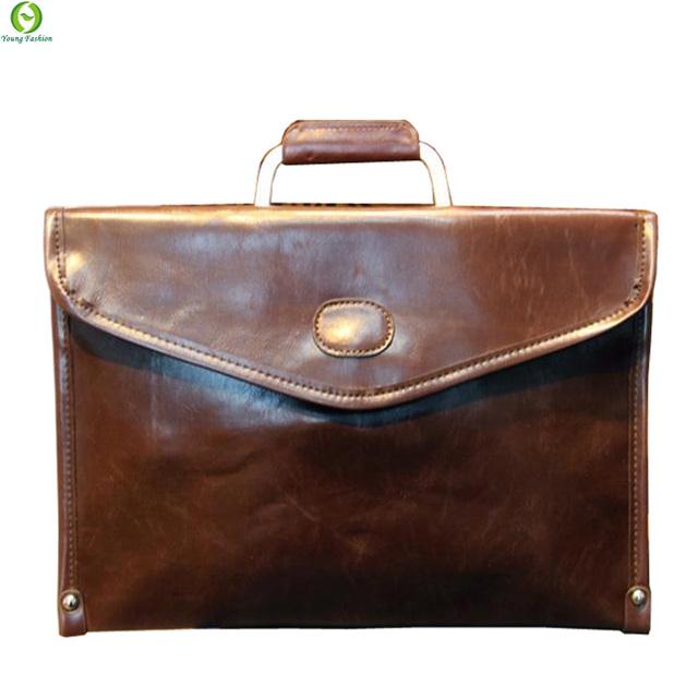 Молодая мода новые 2016 деловых людей сумки искусственная кожа сумки мужские портфель ...