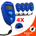 4 pieces x Digital Mini Car Painting Thickness Tester Paint Thickness Meter Coat Coating Thickness Gauge