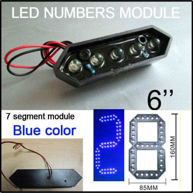 2016 Blue Limited 6inch Led Digita Numbers Module,blue Color Led Gas Price ,led Signs,led Billboard, Temperature Display,parts(China (Mainland))