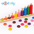 10 Level Clouds Computation Beads Wood Math Toy Educational Kids Toys oyuncak figure toy