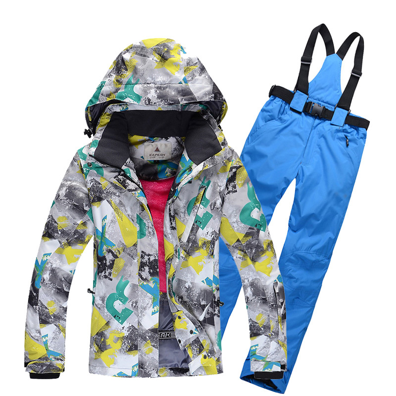 thermal winter waterproof windproof hiking camping outdoor jacket coat pants ski suit women set snow outerwear snowboard suit(China (Mainland))