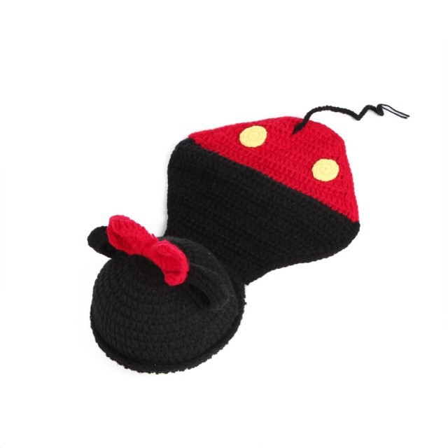 Handmade knit cap hat hat Mickey small animal modeling tool 100g baby moon pictures(China (Mainland))