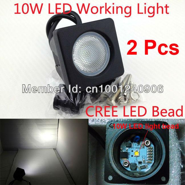 Free Shipping,2 Pcs 10W CREE LED dune buggy atv motorbike light,spot light and floodlight,waterproof motorcycle headlight<br><br>Aliexpress