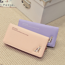 2016 high-heeled shoes Long Purse Leather Ladies Wallet Women Wallets New Creative Change Purse Mobile Bags Card Holders L0043(China (Mainland))
