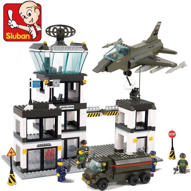 Without Original Box SLUBAN Air force Series Air Force Base 563 pcs & education DIY enlighten building blocks sets for child tefal balai air force extreme ty8751rh