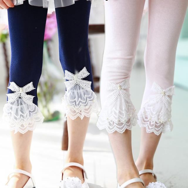 2016 летние дети гетры для девочек детей леггинсы девушки колена брюки девушка брюки для детей детские 2-8Y