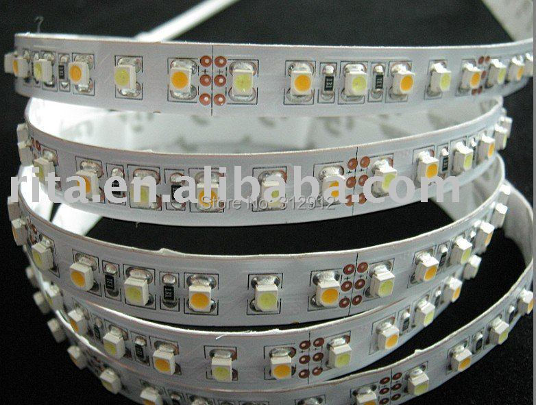 Фотография 60leds warm white;60leds cool white 3528 led strip,5m long, with controller which can change the color temperature,DC12V input