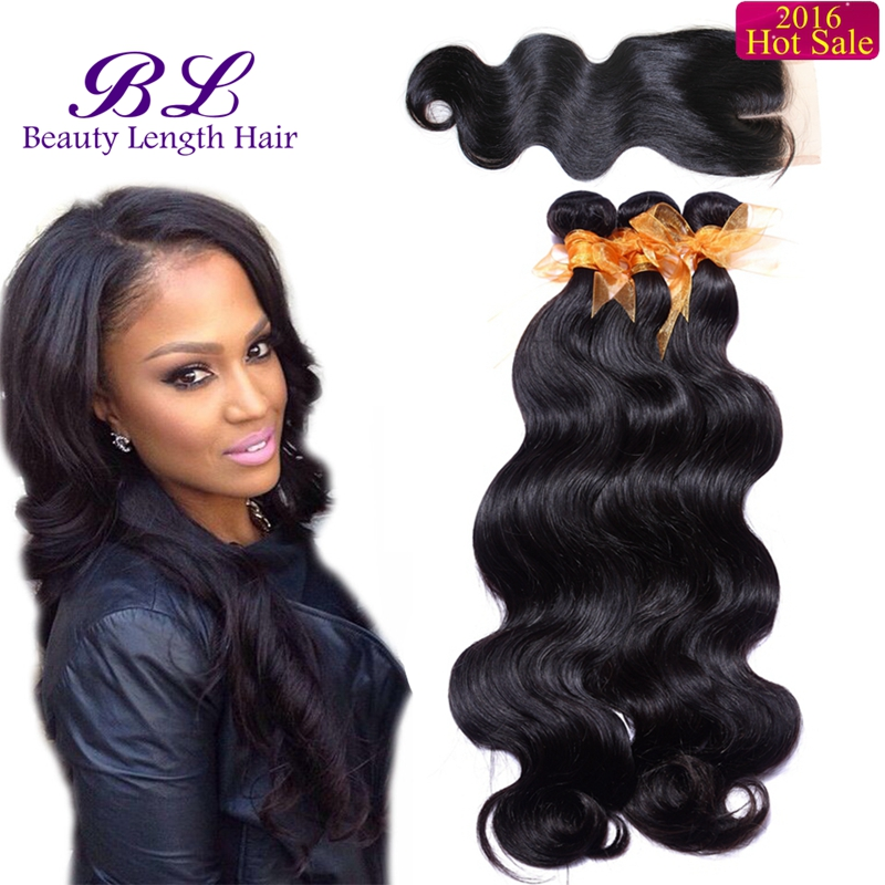Grace Hair Company Products With Closure Brazilian Virgin Hair Body Wave With Closure Cheap Brazilian Hair 3 Bundles And Closure