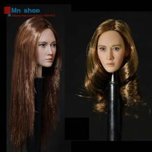 1/6 Head Model Female Head Sculpt Head Carving Model Toys For 12″ Action Figure Doll Toys Gift Collection DSTOYS D-002 A/B