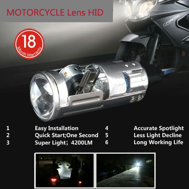 Motorcycle Lens HID H6 35W Xenon headlight universal motorbike hid lights ballast lamp DC 12V Moto 6000K lights accessories(China (Mainland))