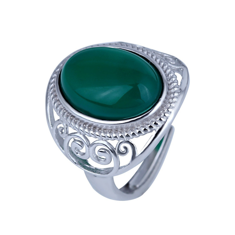 Free Shipping 2016 New fashion women Jewelry 925 Silver Ring Created agate Married couples party CZ diamond ring C-012<br><br>Aliexpress