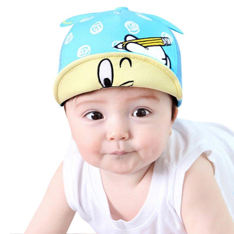 New Summer Baby Kid Infant Newborn Boy Girl Snapback Outdoor Sport Baseball Peaked Cap 0-24M(China (Mainland))