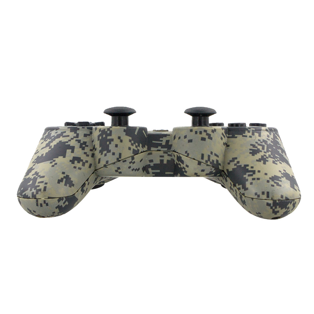 All-new Camouflage Dual Vibration Shock 6 Axis Bluetooth Wireless Controller for Sony PS3 high quality gamepad(China (Mainland))