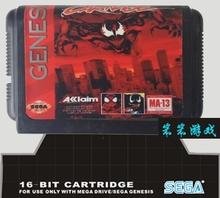 Sega 16bit MD games card: Spider-Man and Venom – Maximum Carnage For 16 bit Sega MegaDrive Genesis game console