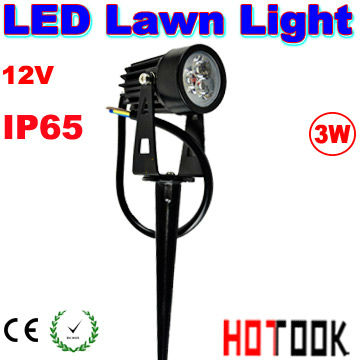 LED Lawn Light 12V 3W Lamps IP65 Waterproof Landscape Outdoor Lights Garden Path Pond Lighting Warranty 2 years CE RoHS x 10pcs(China (Mainland))