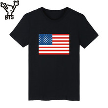 Buy BTS Flag United States Tshirt Mens Short Sleeve USA Nationality Plus Size Funny T Shirts Men Black Cotton T-Shirt for $6.92 in AliExpress store