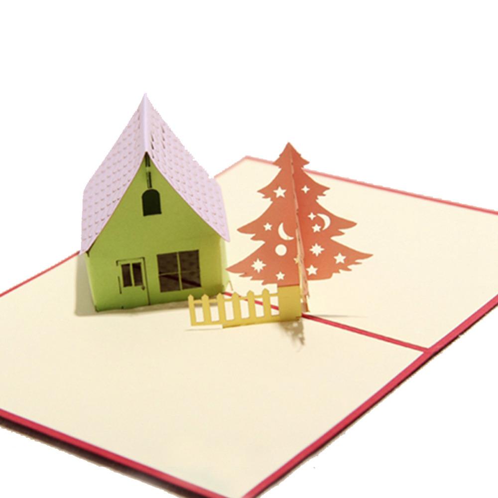-Tree-3D-laser-cut-pop-up-paper-handmade-postcards-custom-Christmas ...