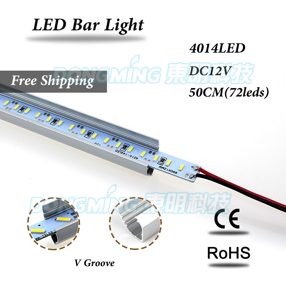 Aluminium V Profile 72 Leds 50cm LED Rigid Strip DC 12V