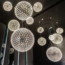 Raimond Firework Suspension Handmade Sphere Stainless Steel Pendant Lamp. Creative Ball LED drop lights Foyer Restaurant(China (Mainland))