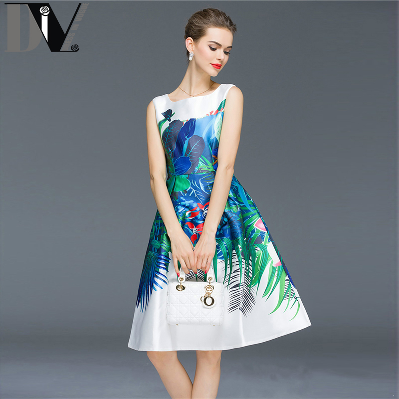 DIV Printed Vest Dresses Women Sleeveless Pictures Knee-Length Vestido Summer Soft Comfortable Casual Dresses Plus Size S-2XL(China (Mainland))