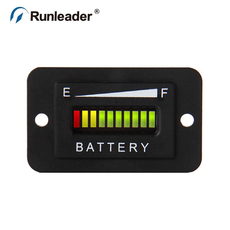 Car Golf carts e-bike baby car Battery Indicator 72v selectable led three color display(China (Mainland))