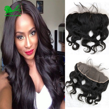Brazilian Body Wave  Lace Frontal Closure 13×4 Full Frontal Lace Closure Bleached Knots Virgin Hair  Body Wave Lace Frontal