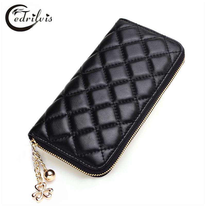 Zipper Fashion Women Wallet W152 Large Capacity Female Purse Lady Diamond font b Chequer b font